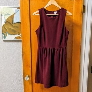 J. Crew Burgundy Knit Dress